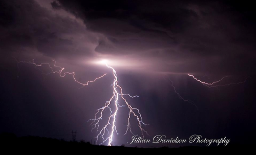 Jillian Danielson | Clouds and lightning over Lake Havasu City