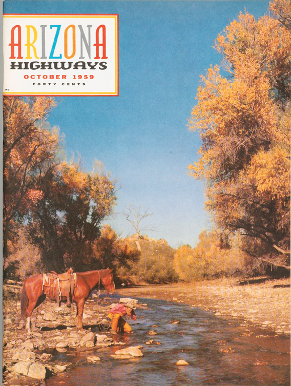 Arizona Highways Magazine-January 1959-Tonto National Monument-Cactus-Drug Store