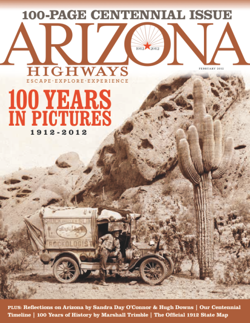 "Gold, Special Focus Issue, ""Arizona Highways Centennial Issue"" (February 2012)"