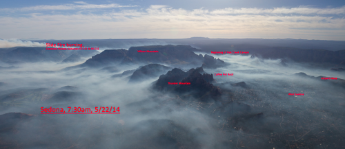 An aerial image of Sedona's surrounding mountains. | Courtesy of Ted Grussing