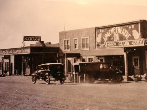 Springerville's El Rio Theatre (then called the Apache Theatre)