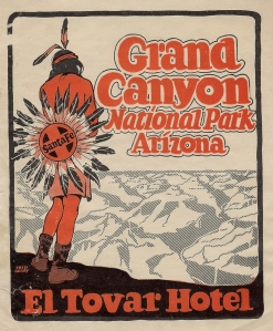 A vintage El Tovar decal, produced by the Santa Fe Railway and the Fred Harvey Co. | Courtesy of Suzanne Silverthorn